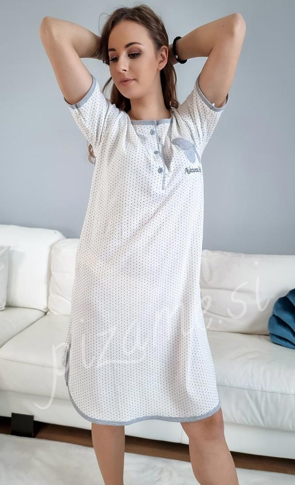 Spalna srajca Daisy bela 1