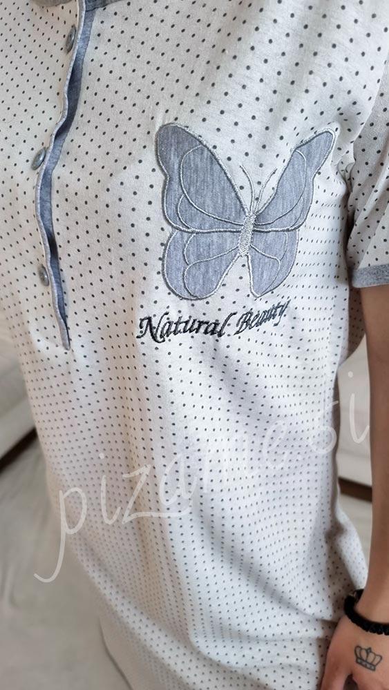 Spalna srajca Daisy bela 5