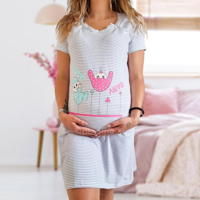 Spalna srajca za nosečnice Noemi